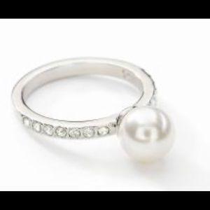 Swarovski Luster ring size 6 crystal pearl BNIB